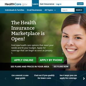 Screenshot of the HealthCare.gov website, Courtesy of HealthCare.Gov