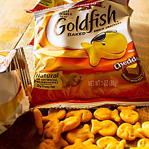Goldfish crackers. © John Crowe/Alamy