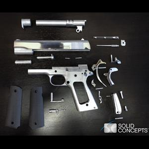 World's First 3D-Printed Steel 1911 .45 Caliber Handgun by Solid Concepts