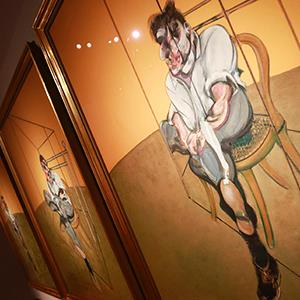 Artist Francis Bacon's 'Three Studies of Lucian Freud' at Christie's Auction House in New York on October 31, 2013 (© Shannon Stapleton/Newscom/Reuters)