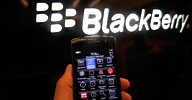 A Blackberry phone shown at a developer's conference. / (c) Jeff Chiu/AP