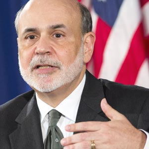 Federal Reserve Chairman Ben Bernanke © Sipa USA/Rex Features