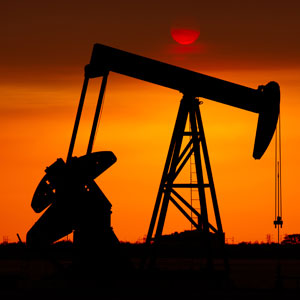 Oil pumpjack at sunset © Getty Images
