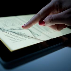 Digital book displayed on an iPad © Scott Eells/Bloomberg via Getty Images