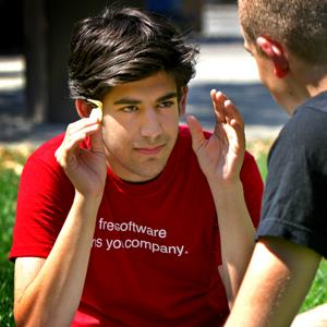 File photo of Aaron Swartz in August 2007 (&#169; Wendy Maeda/The Boston Globe via Getty Images)