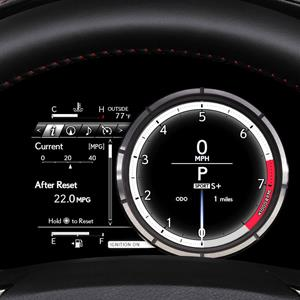 2014 Lexus IS 350 F SPORT custom dash display