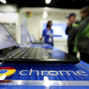 laptop running Google's Chrome OS