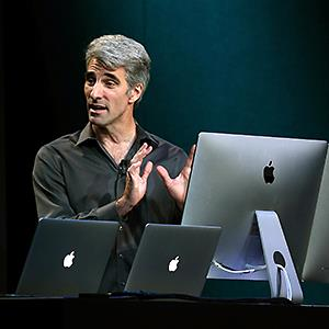 Apple's Craig Federighi speaks during an Apple announcement on Oct. 22, 2013 Justin Sullivan/Getty Images