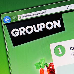 Groupon's website © seewhatmitchsee/Alamy