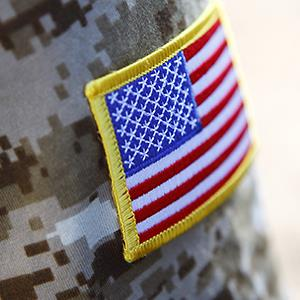 Military soldier's american flag arm patch © Ivan Bajic/Getty Images