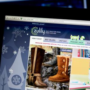 The Zulily Inc. website © Andrew Harrer/Bloomberg via Getty Images