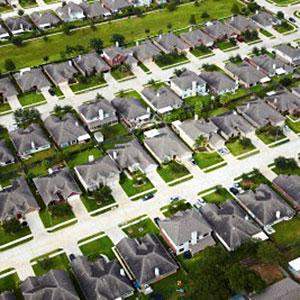 Image: Aerial view of Houston neighborhood &#169; Ocean/Corbis/Corbis