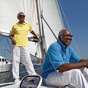 Image: Senior couple on a yacht -- Digital Vision/Getty Images