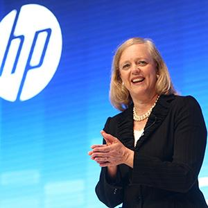 File photo of Meg Whitman, President and Chief Executive Officer of Hewlett-Packard, speaking in Shanghai, China on May 10, 2012 (© ChinaFotoPress/ChinaFotoPress via Getty Images)