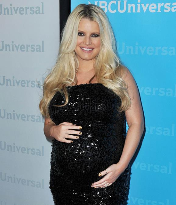 Jessica Simpson during her first pregnancy (PA)