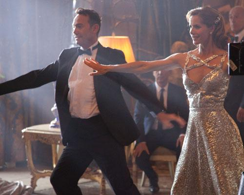 Craig Revel Horwood and Darcey Bussell prepare for the new series of Strictly Come Dancing.