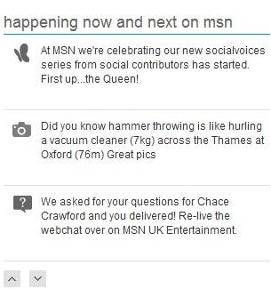 Now and Next on MSN UK.