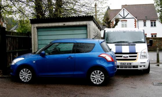 Ford Transit SuperSportVan, Suzuki Swift (C) Sean Carson