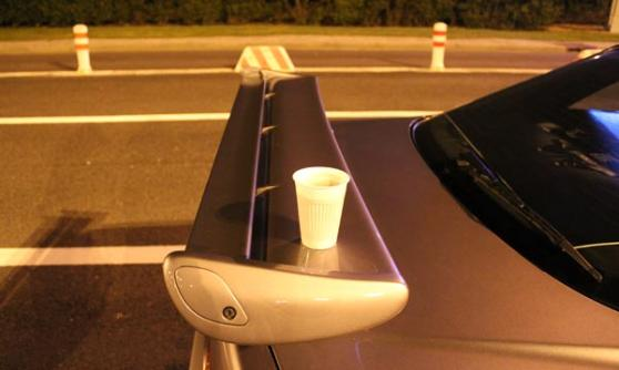 Nissan Skyline GT-R tea tray spoiler at the Eurotunnel (c) Motoring Research
