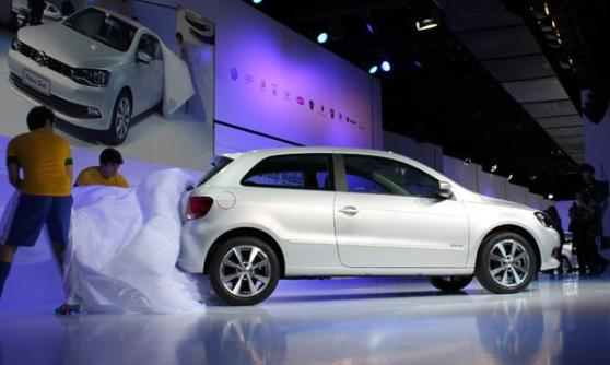 Volkswagen Gol Trend revealed at the VW Group Media Night, Sao Paulo Motor Show 2012 (c) CJ Hubbard / Motoring Research