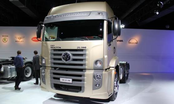 Volkswagen Constellation truck, VW Group Media Night, Sao Paulo Motor Show 2012, Brazil (c) CJ Hubbard / Motoring Research