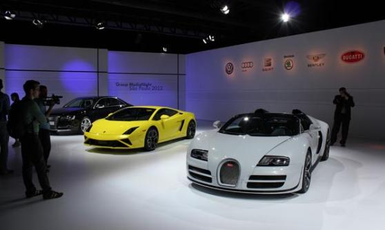 Bugatti Grand Sport Vitesse, VW Group Media Night, Sao Paulo Motor Show 2012, Brazil (c) CJ Hubbard / Motoring Research