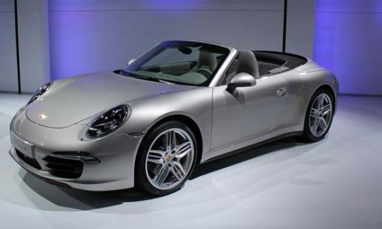 Porsche 911 Carrera 4S cabriolet, VW Group Media Night, Sao Paulo Motor Show 2012, Brazil (c) CJ Hubbard / Motoring Research