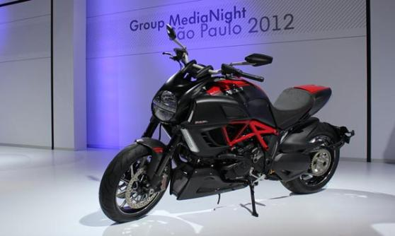 Ducati Diavel, VW Group Media Night, Sao Paulo Motor Show 2012, Brazil (c) CJ Hubbard / Motoring Research