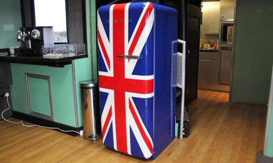 Smeg designer fridge on the Jaguar XF Sportbrake launch, Scotland (c) CJ Hubbard / Motoring Research