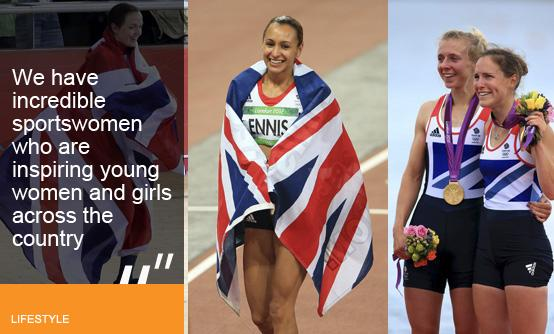 Victoria Pendleton, Jessica Ennis, Sophie Hosking and Katherine Copeland (images © Press Association
