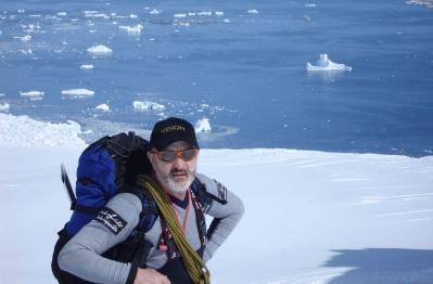 Sebastián Álvaro en la Antártida