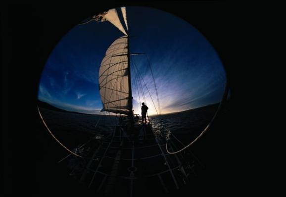 Navegando a las Georgias. Foto: Sebastián Álvaro
