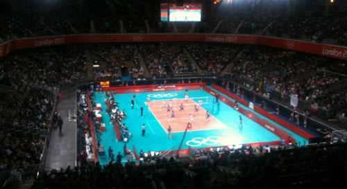 Partido de voleibol en Earls Court