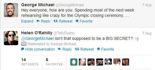 George Michael en Twitter