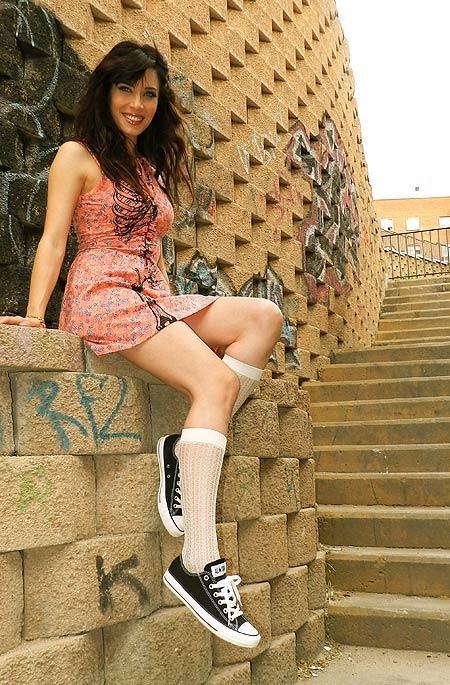 Zapatillas Converse, medias Calzedonia