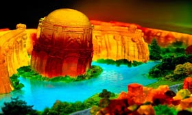 Palace of Fine Arts in San Francisco made of Jello (© Liz Hickock/http://lizhickock.com)
