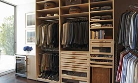 Master closets are becoming larger and more elaborate. © LA Closet Design
