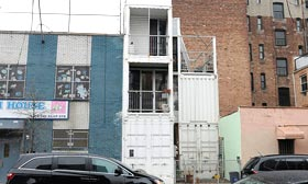 David Boyle & Michele Bertomen's home made of shipping containers in Williamsburg (© DNAinfo/Ben Fractenberg)