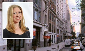 East 26th Street, New York City, (inset) Chelsea Clinton (© Microsoft Corporation/Nokia, Evan Agostini/Invision/AP)
