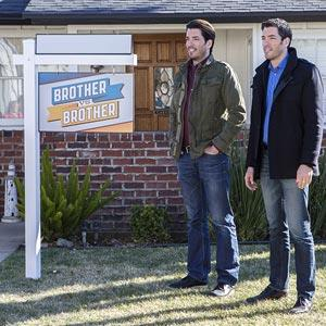 "The hosts of ""Brother vs. Brother"". (© HGTV)"