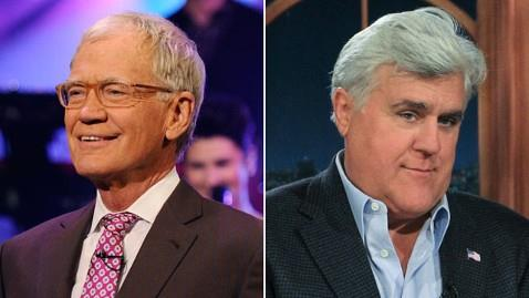 'Letterman and Leno' '/' CBS and Getty