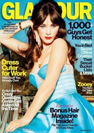 'Zooey Deschanel' '/' Glamour
