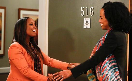 Keshia Knight Pulliam and Tempestt Bledsoe on 'Guys With Kids'/NBC