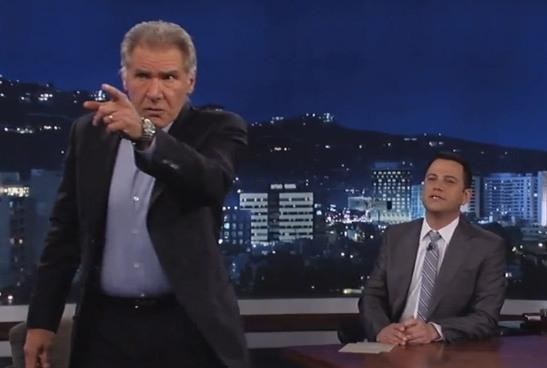 Harrison Ford on 'Jimmy Kimmel'/ABC