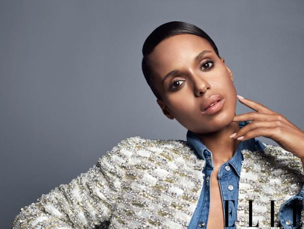 'Kerry Washington' '/' Elle