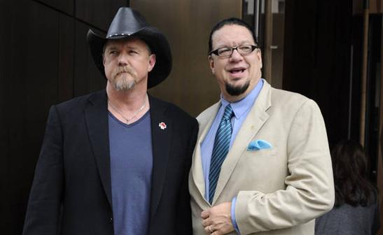 Trace Adkins and Penn Jillette/WENN
