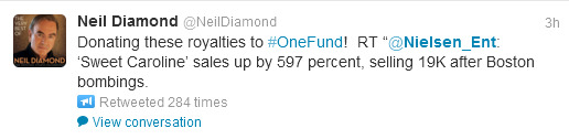 Neil Diamond tweet