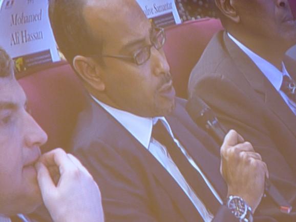 Mohamed Moallin Hassan, directeur du cabinet du président du Gouvernement fédéral de transition de Somalie (c) Franck Edard