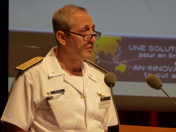 Contre-Amiral Gualtiero Mattesi, Commandant adjoint de l'op&#233;ration Atalante de l'Union europ&#233;enne (c) Franck Edard