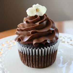 Cupcake with frosting © Kathryn Harris/Getty Images